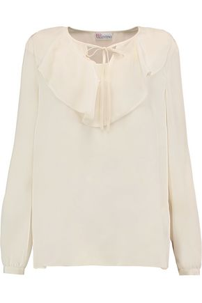REDValentino Ruffled silk-crepe blouse
