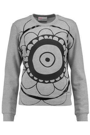REDValentino Printed cotton sweatshirt