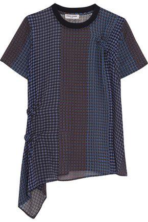 OPENING CEREMONY Asymmetric printed silk-chiffon top