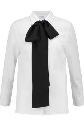 OSMAN Vera pussy-bow cotton-poplin shirt
