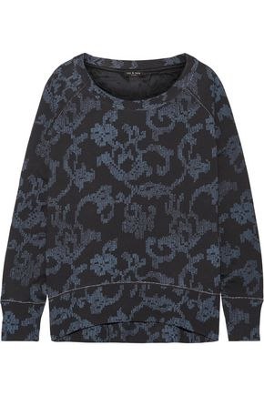 RAG & BONE Max oversized printed French cotton-terry sweatshirt