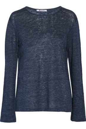 T by ALEXANDER WANG Linen-jersey top