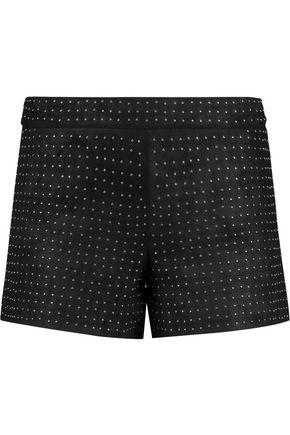 ALICE + OLIVIA Studded suede shorts