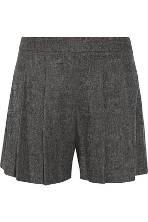 ALICE + OLIVIA Pleated bouclé shorts