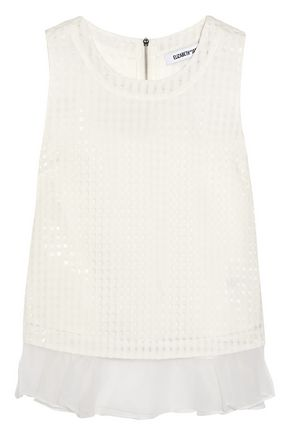 ELIZABETH AND JAMES Tierney checked organza top