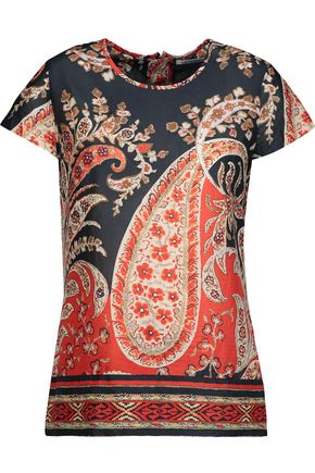 ISABEL MARANT ÉTOILE Printed cotton-broadcloth top