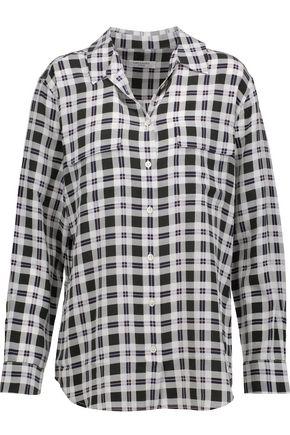 EQUIPMENT Signature plaid washed-silk shirt
