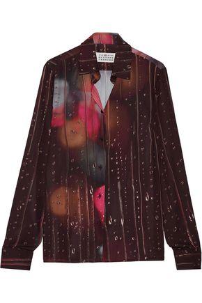 MAISON MARGIELA Printed crepe de chine shirt