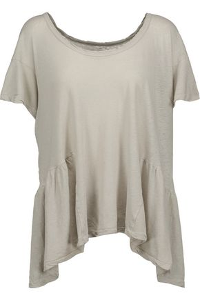 CURRENT/ELLIOTT The Girlie linen and cotton-blend peplum top