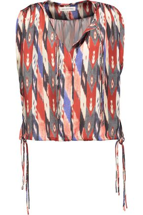 ISABEL MARANT ÉTOILE Harvey Haut gathered printed satin top