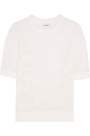 DKNY Cotton-mesh top