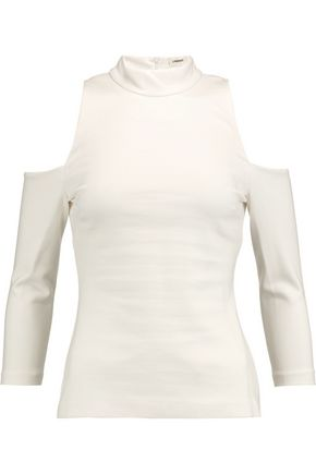 L'AGENCE Sasha cold-shoulder stretch-jersey top