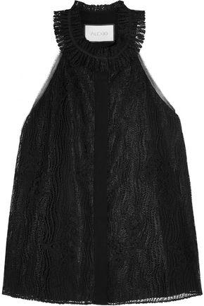 ALEXIS Halterneck guipure lace top