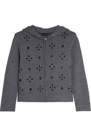 MARC BY MARC JACOBS Anja embellished wool hooded sweatshirt