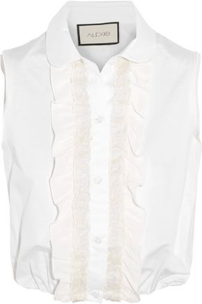 ALEXIS Orly ruffled cotton and silk blouse