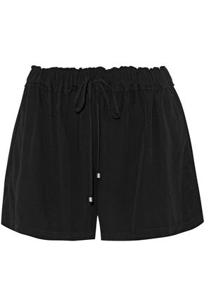 SPLENDID Ruffled voile shorts