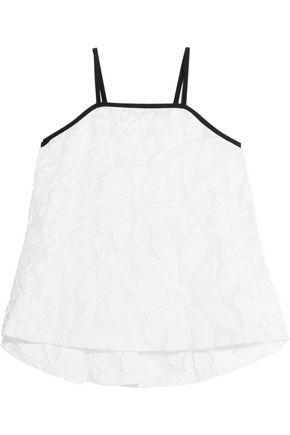 VICTORIA, VICTORIA BECKHAM Cotton-blend jacquard camisole