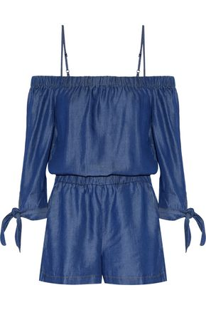 SPLENDID Off-the-shoulder chambray playsuit