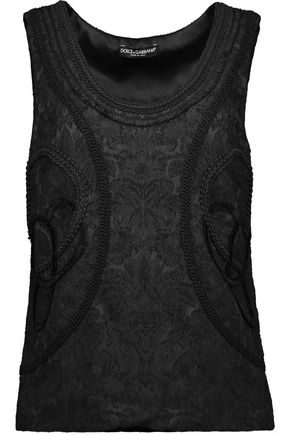 DOLCE & GABBANA Embroidered jacquard top
