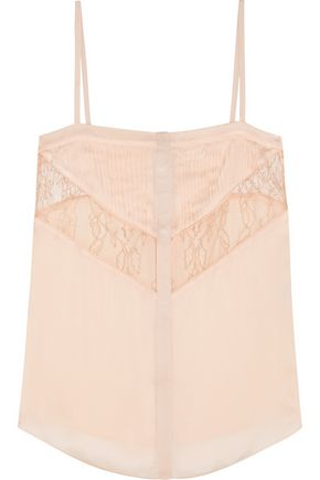 GIVENCHY Camisole in blush silk-chiffon and lace