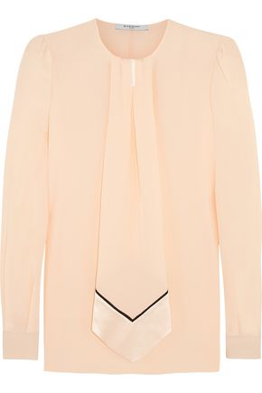GIVENCHY Blouse in pastel-pink silk crepe de chine