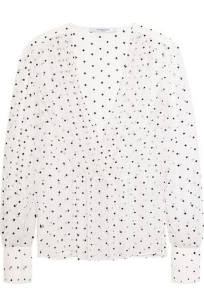 GIVENCHY Cross-print blouse in silk-gauze