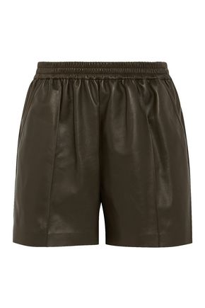 GIVENCHY Shorts in army-green leather