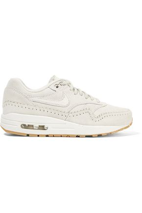 NIKE Nike Air Max 1 Sherpa suede and shearling sneakers