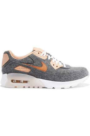 NIKE Air Max 90 Ultra Premium leather-trimmed felt sneakers