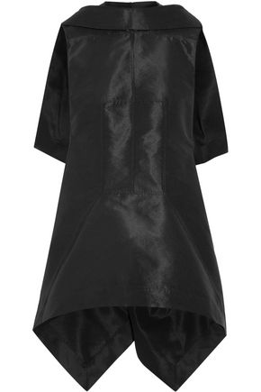 RICK OWENS Sphinx asymmetric cape-back faille top