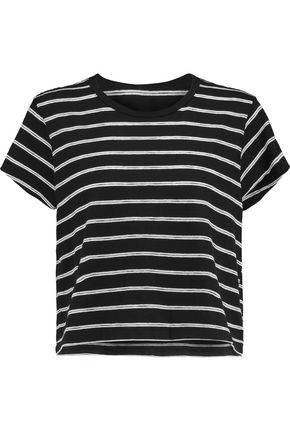 RE/DONE Striped cotton-blend jersey T-shirt