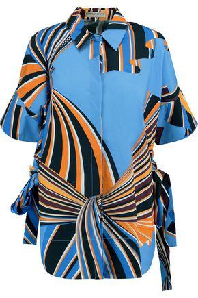 EMILIO PUCCI Printed cotton-blend poplin shirt