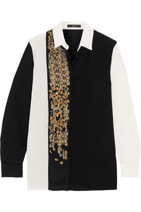 ETRO Camicia Boyfit embellished silk shirt