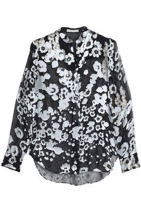 ALICE + OLIVIA Belle floral-jacquard shirt