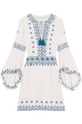 TALITHA Anya embroidered silk top