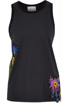 3.1 PHILLIP LIM Floral-appliquéd cutout top