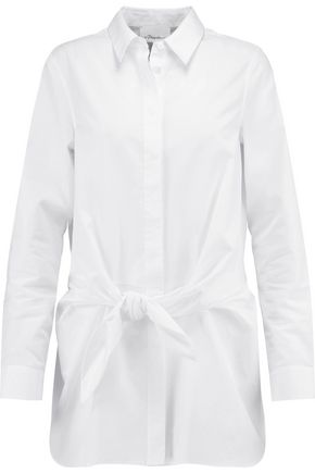 3.1 PHILLIP LIM Tie-front cotton-poplin shirt