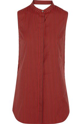 3.1 PHILLIP LIM Twisted striped cotton and silk-blend blouse