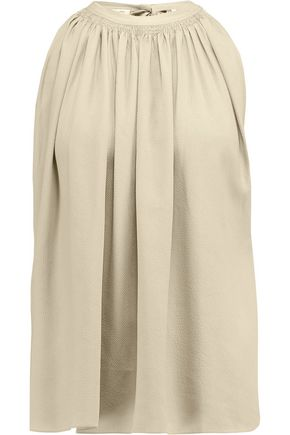 HELMUT LANG Gathered twill top