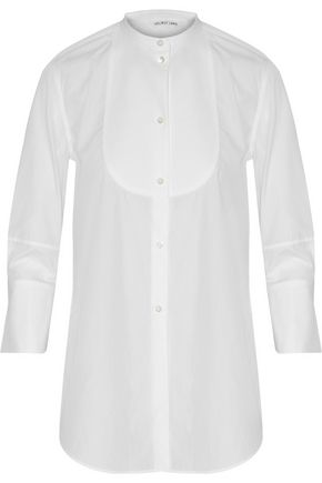 HELMUT LANG Piqué-paneled cotton-poplin shirt