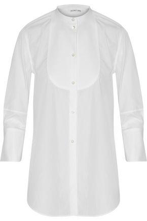HELMUT LANG Piqué-paneled cotton-poplin shirt