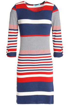MELISSA ODABASH Maddie color-block cloqué-knit coverup