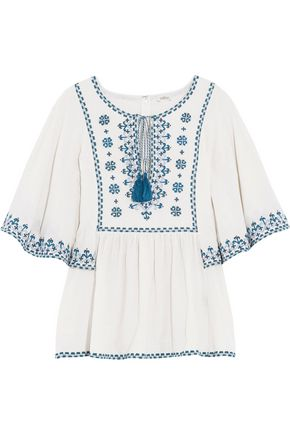 TALITHA Anya embroidered silk top