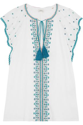 TALITHA Anya embroidered cotton top