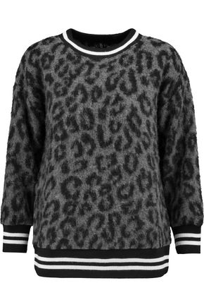 R13 Leopard-print knitted sweater