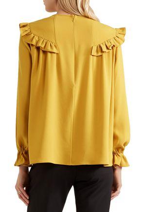 CO Ruffled crepe blouse
