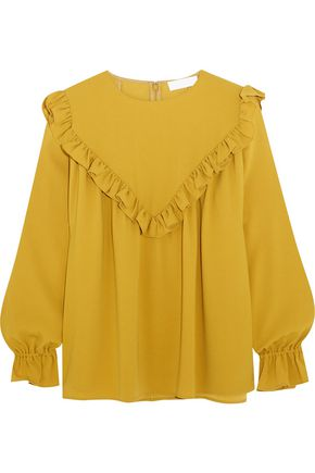 CO Ruffled crepe blouse