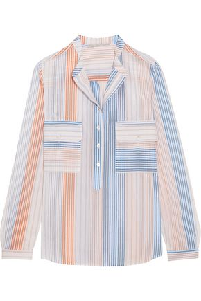 STELLA McCARTNEY Striped cotton-blend blouse