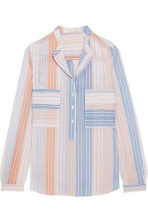 STELLA McCARTNEY Striped cotton-blend blouse
