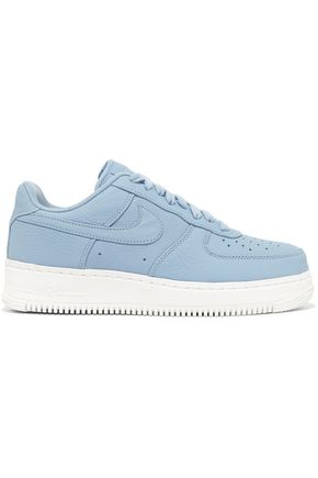 NIKE Air Force 1 perforated leather sneakers